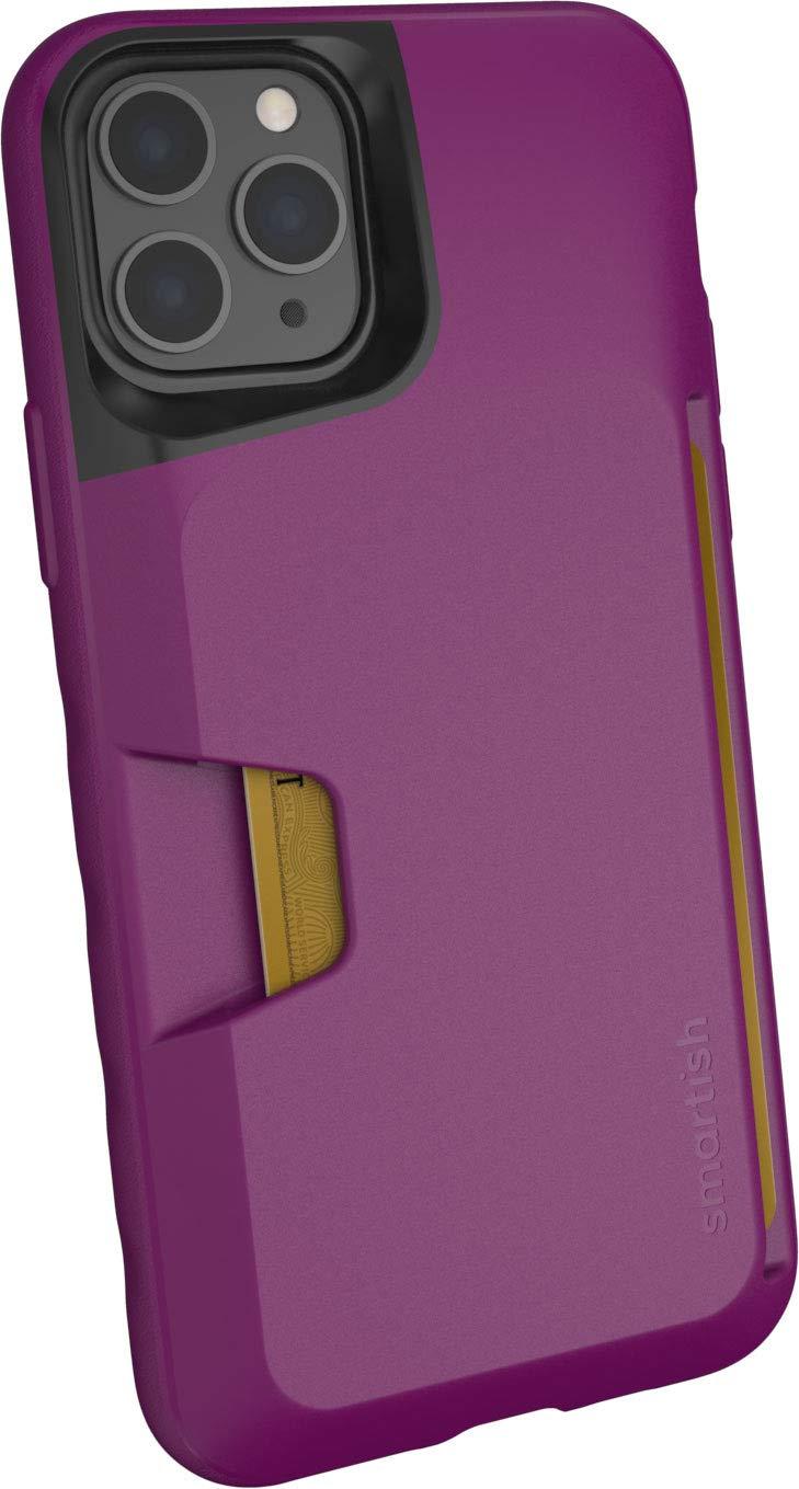 Smartish iPhone 11 Pro Wallet Case - Wallet Slayer Vol. 1 [Slim + Protective] Credit Card Holder (Silk) - Purple Reign