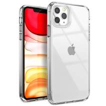 YOUMAKER Compatible with iPhone 11 Pro Max Case, Clear iPhone 11 Pro Max Cover Shock Absorption Phone Cases 6.5 inch - Clear