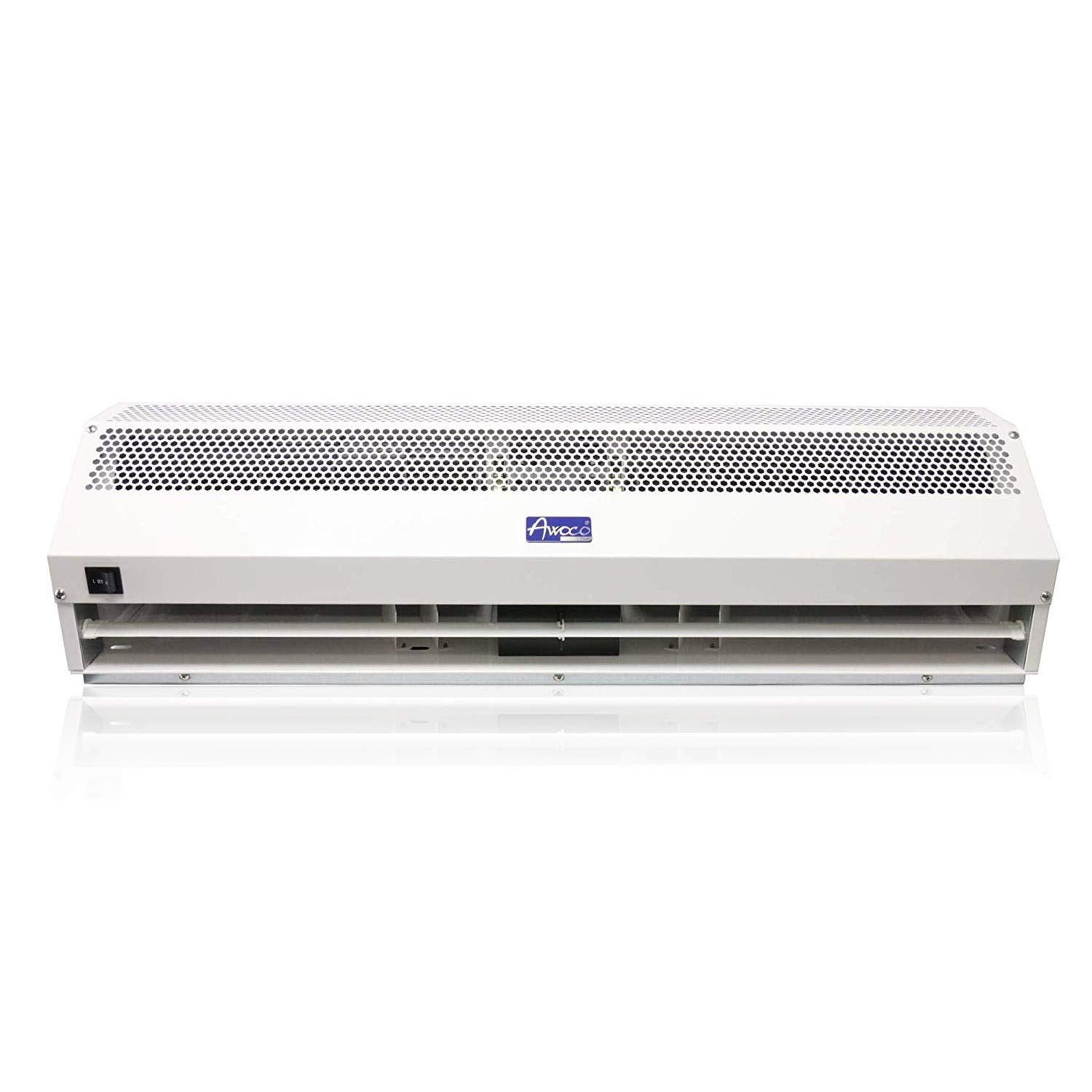 """Awoco 48"""" Super Power 2 Speeds 1650CFM Commercial Indoor Air Curtain, UL Certified, 120V Unheated - Door Switch Included"""