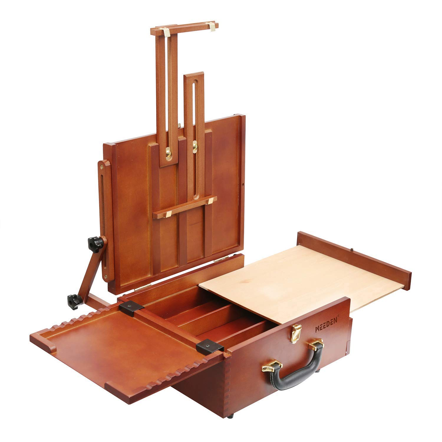 MEEDEN Ultimate Pochade Box, Lightweight French Box Easel for Plein Air Painting, Makes Outdoor Painting Easy and Fun