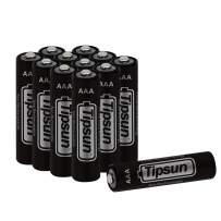 Tipsun AAA Lithium Batteries, Longer Lasting Energy FR03 Battery, 1100mAh Lithium Cells 12 Pack