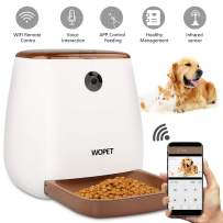WOPET SmartFeeder with Camera, Automatic Pet Dog and Cat Feeder,12-Meal Auto Pet Feeder with Timer Programmable,HD Camera for Voice and Video Recording,Wi-Fi Enabled App for iPhone and Android
