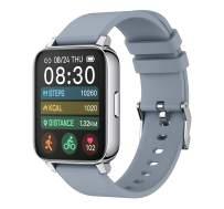 Rogbid Rowatch 2 Smart Watch 1.69'' Touch Screen Fitness Activity PedometerTracker IP68 Waterproof Heart Rate Blood Oxygen MonitorSleep Monitor Step Counter Smartwatchfor Android iPhone (Grey)