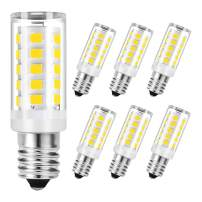 SumVibe E12 Candelabra Bulb 4W, 40W Equivalent E12 LED Bulbs, 350LM, Daylight White 6000k Non-Dimmable Candle Base Corn Bulb for Ceiling Fan, Chandelier, 6-Pack