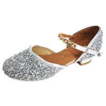 YING LAN Girls Glitter Sequins Princess Dress Party Dance Shoes (Little Kid/Big Kid)
