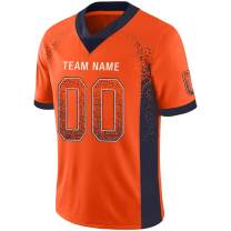 Custom Football Jerseys Mesh Design Your Team Name and Your Number for Men/Youth