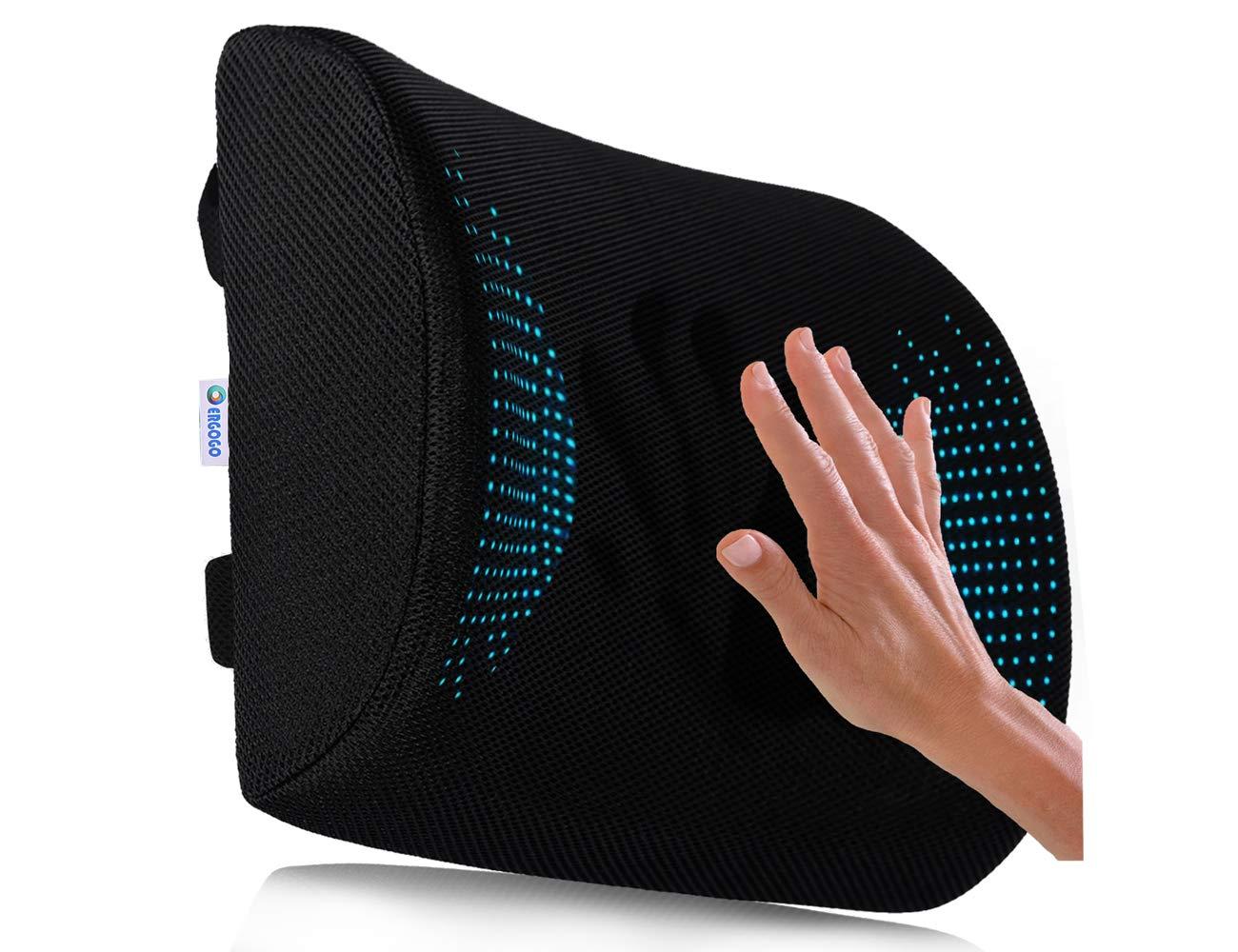 Memory Foam Lumbar Support Pillow for Chair - Travel Back Pillow for Office Chair, Back Support for Car - Back Support for Office Chair - Office Chair Back Support Lumbar Pillow – Back Lumbar Cushion