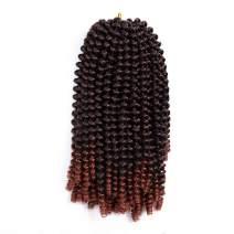 Aigemei Spring Twist Braiding Style, Fluffy Twist Hair, Nubian Twist Hair Black Color Hair Extension,one pack #1b/30