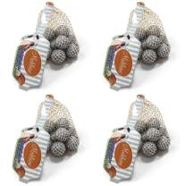 Madelaine Solid Milk Chocolate Golf Balls Wrapped In Italian Foil (4 Mesh Bags)