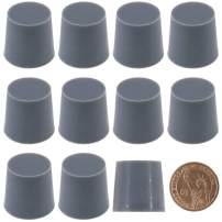 """Hilitchi Silicone Rubber Plug Kit Tapered Stopper Silicone Plugs for Powder Coating Painting Anodizing Plating Vacuum Test Plugging Hydraulic Fuel and Oil Lines (Large Gray-10 Pcs, 29/32""""×1 1/16"""")"""