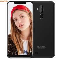 OUKITEL C12 UnlockedCellPhone Smartphone, 6.18 inch 19:9 Full-Screen Display Android 8.1 Dual 3G SIM Free Mobile Phone,Quad-Core 2GB RAM+16GB ROM,8MP+2MP+5MP Cameras,Face ID+Fingerprint - Black