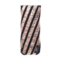 ZIPIT Metallic Pencil Case/Cosmetic Makeup Bag, Rose Gold
