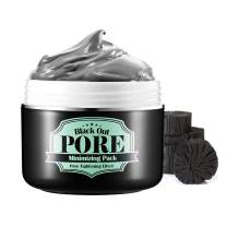 SECRET KEY Black Out Pore Minimizing Pack. Remove Blackhead & Sebum Wash Off Mask, Skin Peeling and Brightening Effect with Charcoal & Black Sugar, 100g