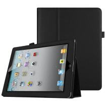 Fintie Case for iPad 2/3/4 (Old Model) - Slim Fit Folio Stand Case Smart Protective Cover Auto Sleep/Wake Feature for Apple iPad 2, iPad 3rd gen & iPad 4th Generation with Retina Display, BlackBlack