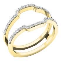 Dazzlingrock Collection Diamond Wedding Band Enhancer Guard Ring from 1/4 Carat to 1 Carat White Diamond Ring in 14K Yellow Gold