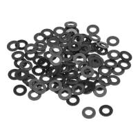 uxcell Nylon Flat Washers M5 10mm OD 5mm ID 1mm Thickness for Faucet Pipe Water Hose, Pack of 100