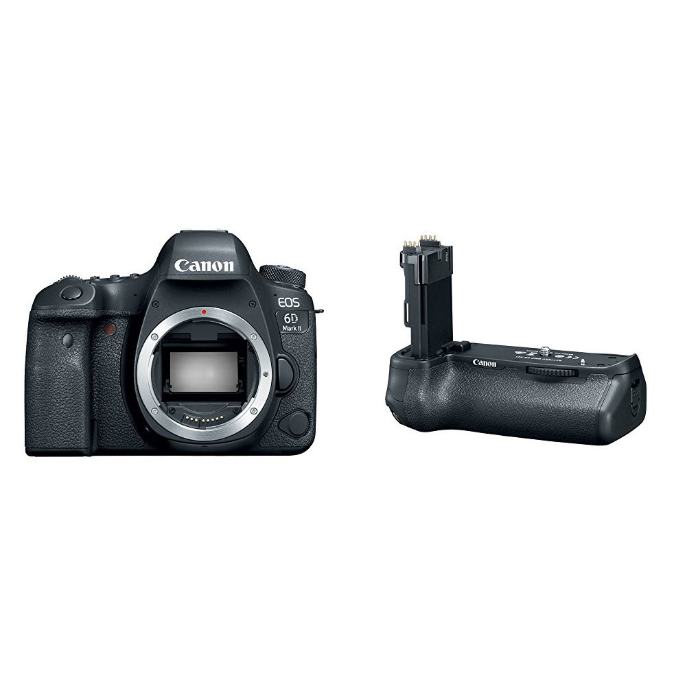 Canon EOS 6D Mark II Digital SLR Camera Body + Battery Grip