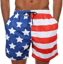 Mens Swim Trunks Short Quick-Dry Swimming Trunks with Mesh Lining Fashion Trend Turnks