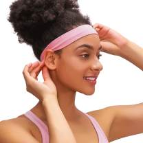Mndrlin Yoga Headbands for Women Lightweight Elastic Exercise Band Non Slip Moisture Wicking Sweatband Running Cycling Workout Sports Indoor Fitness