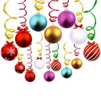 JBLCC 30 Ct Christmas Hanging Swirl Decoration - Christmas/Holiday Party Decor Supplies,Already Assembled