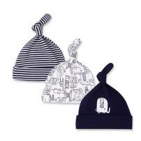 CuteOn 3 Pack Baby Beanie Knot Hat Newborn Boys Girls Cotton Adjustable Cap for Baby 0-6 Months