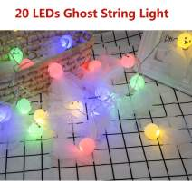 PGYFIS String Light Ghost 20 LED Light Battery Powered for Christmas Halloween Thanksgiving Holiday Decoration (Ghost)