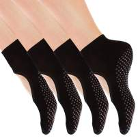 Yoga Socks Non Slip Skid Pilates Ballet Barre with Grips for Women by Cooque