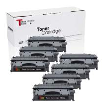 TonerSave CE505A Compatible Toner Cartridge Replacement for HP 05A CE505A (Black, 7-Packs), Work with Laserjet P2035 P2055dn P2035n P2055d P2055x Printer