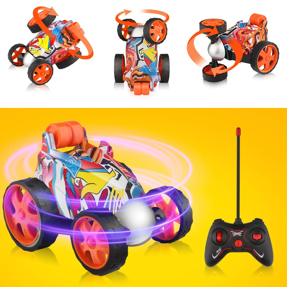 Blasland Remote Control Car - RC Vehicle Four Wheel Stunt Car, 360 Degree Rolling Rotating Rotation Stunt Car Toy , RC Stunt Toy Cars for Toddlers, Kids, Boys & Girls