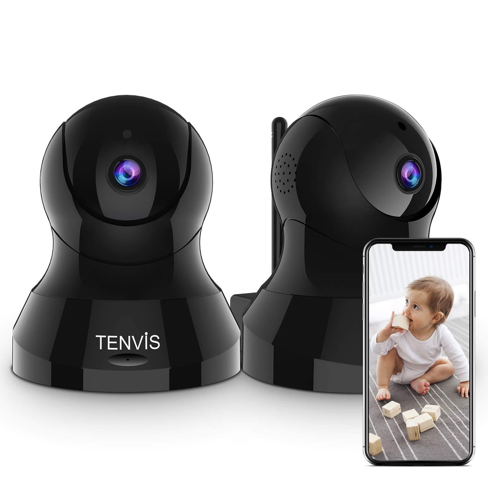 TENVIS Home Pet Camera, FHD Indoor Video Surveillance System, Sound/Motion Detection   355° Pan/Tilt, 2-Way Audio, Smart App   Family & Pet Friendly