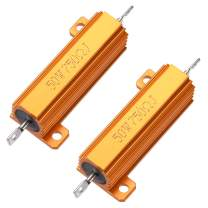 uxcell 50W 750 Ohm 5% Aluminum Housing Resistor Screw Chassis Mounted Aluminum Case Wirewound Resistor Load Resistors Gold Tone 2pcs