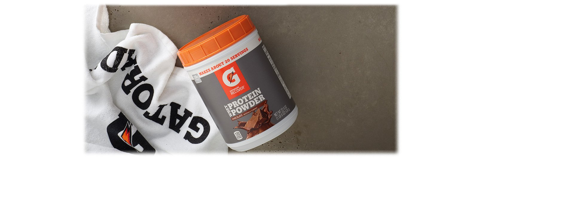 Gatorade Whey Protein Powder, Chocolate, 22.4 Ounce (20 servings per canister, 20 grams of protein per serving)