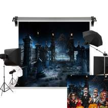 Kate 7x5ft/2.2m(W) x1.5m(H) Halloween Backgrouds Night Creepy Backdrop Tombstone Backdrop Holloween Party Photography Studio Prop