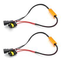 TUINCYN 2pcs 50W 8 ohm 9006 9005 Led Load Resistors Car LED Daytime Running Light Anti- Flaker Fog Lamp Light Error Canceller Capacitor Decoder Wire
