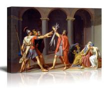 "wall26 - Oath of The Horatii by Jacques-Louis David - Canvas Print Wall Art Famous Painting Reproduction - 24"" x 36"""