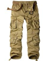 Men's Outdoor Casual Military Tactical Wild Combat Cargo Work Camo Pants with 8 Pockets