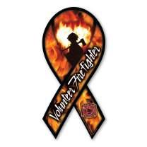 Volunteer Firefighter Ribbon Magnet