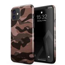 BURGA Phone Case Compatible with iPhone 11 - Pink Tiger Camo Camouflage Cute Case for Women Thin Design Durable Hard Plastic Protective Case