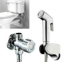 Isightguard Hand-held bidet toilet sprayer kit bathroom cloth diaper cleaner portable shower head stainless steel sprayer for personal hygiene