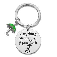 SIDIMELO Inspirational Gifts Mary Poppins Pendant Keychain Anything Can Happen If You Let It Mary Poppins Inspired Jewelry for Women Girls