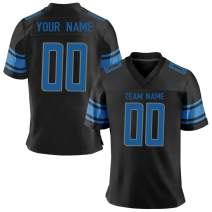 Custom All Teams Embroidered Football Jersey Sportwear Personalized Your Name and Number for Adult/Women/Boys