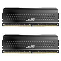 TEAMGROUP T-Force Dark Pro DDR4 16GB Kit (2 x 8GB) 3466MHz (PC4 27700) CL 16 288-Pin SDRAM Desktop Gaming Memory Module Ram - Gray - TDPGD416G3466HC16CDC01