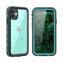 """iPhone 11 Waterproof Case,Clear Full Sealed Support Wireless Charging Rugged Shockproof Dropproof Case IP68 Certified Waterproof for iPhone 11(6.1"""",2019) (Clear+Blue)"""