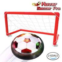 LOFEE Birthday Presents for 3-10 Year Old Boy,Indoor Hover Soccer Ball with 2 Goals Toys for 3 4 5 6 Year Old Boy Gifts for 7 8 9 Year Old Boys Black HB12