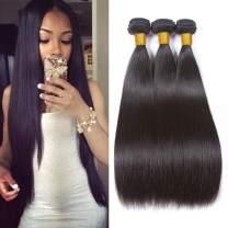 SEXAY Brazilian Human Straight Hair Bundles 22 24 26 inch Grade 8A 100%Unprocessed Virgin Remy Human Hair 3 Bundles Human Hair Extensions for Women Natural Color (22 24 26)