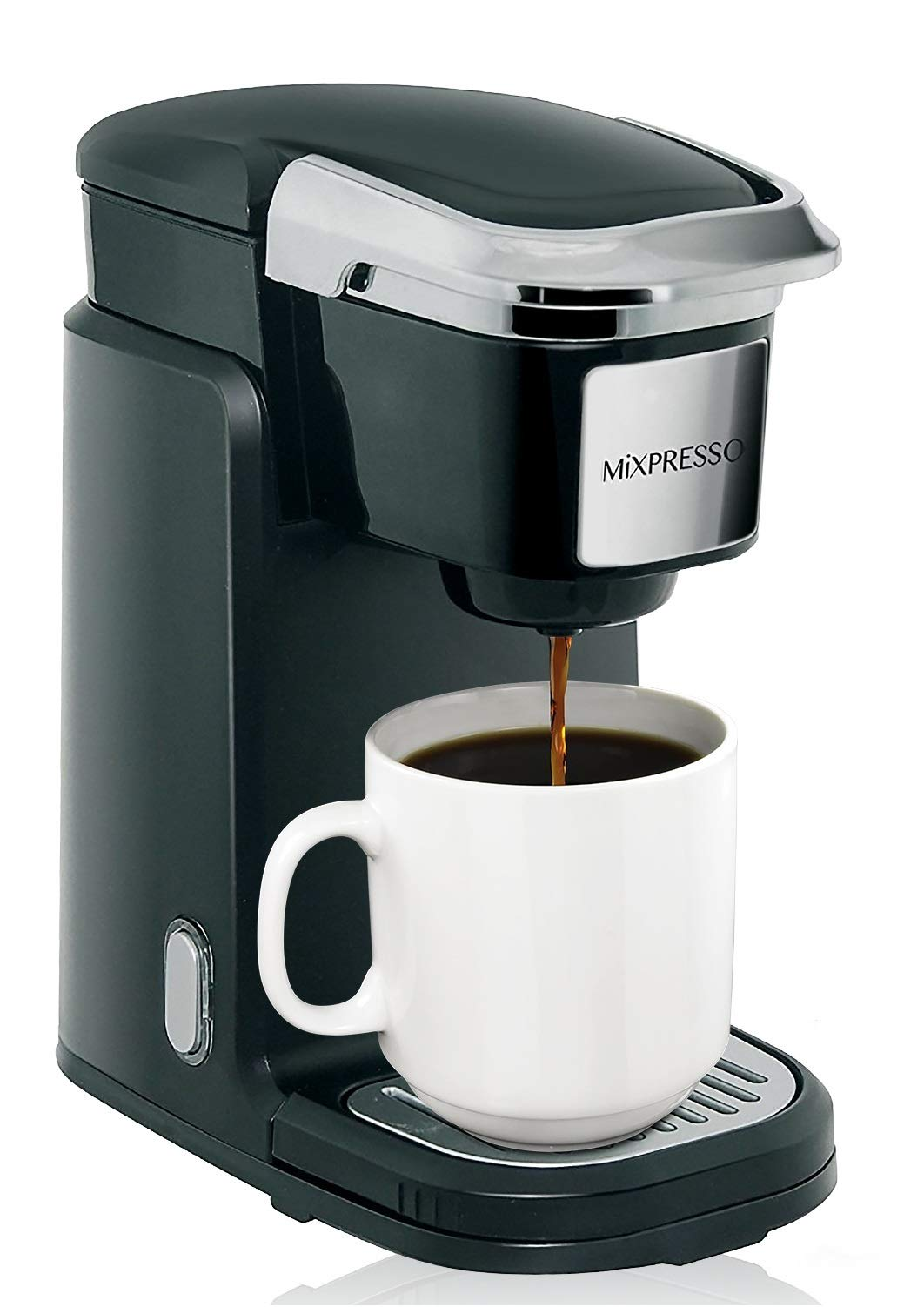 Mixpresso Single Cup Coffee Maker   Personal, Single Serve Coffee Brewer Machine, Compatible With K-Cups