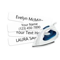 Iron On Clothing Labels- Personalized with Your Name! (500)