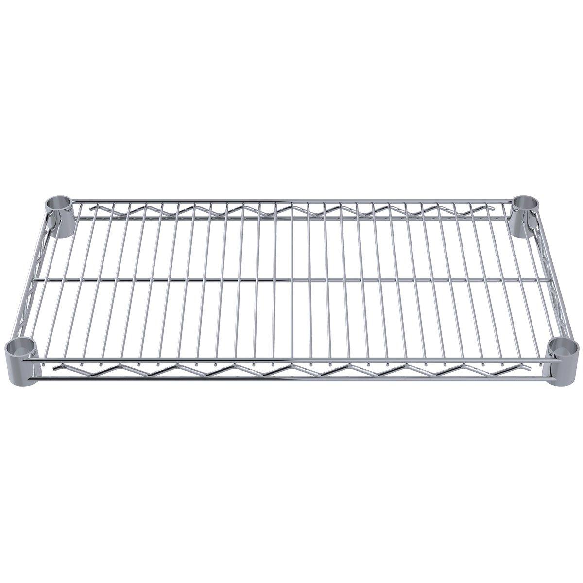 Akro-Mils AWS1224SHELF 12-Inch X 24-Inch NSF Approved Industrial Grade Chrome Wire Shelf, 4-Pack