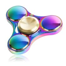 ATESSON Fidget Spinner Metal Hand Spinner Mini Sized Tri-Spinner Stainless Steel High Speed Bearing Hand Spinner Focus Anxiety Stress Relief Boredom Killing Time Toys for Kids Adults