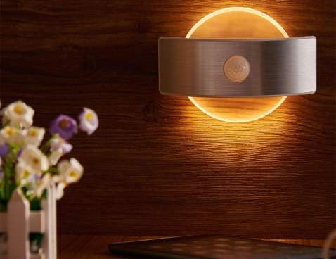Motion Sensor Light Laxcido Rechargeable Cordless Battery Powered Led Night Light Warm White Wall Lights For Hallway Bedroom Kitchen Stick Anywhere Closet Light Stair Lights